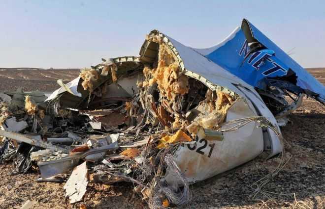 Mảnh vỡ máy bay A321 của Nga ở Sinai, Ai Cập