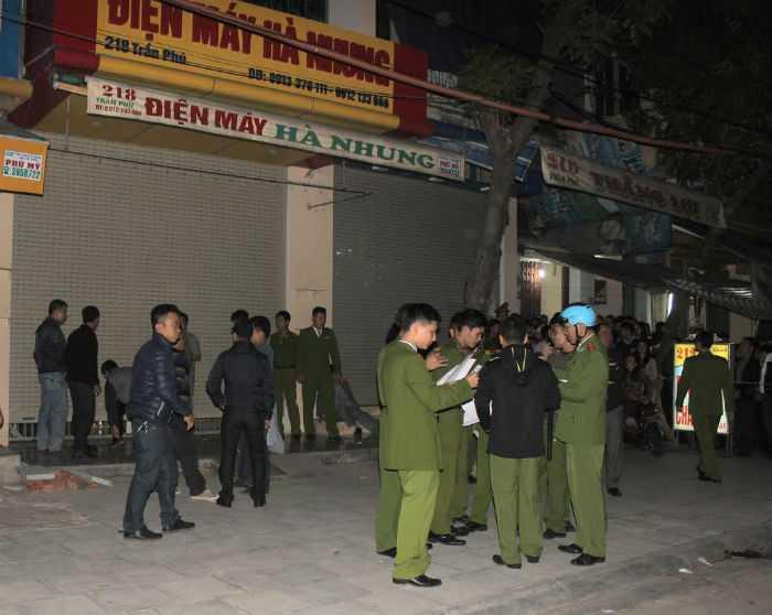 Công an tỉnh Thanh Hóa nhanh chóng huy động lực lượng tới hiện trường, thực hiện các biện pháp nghiệp vụ để phục vụ điều tra, làm rõ vụ việc.