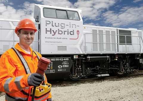Đầu máy xe lửa hybrid đầu tiên do Audi chế tạo có sức kéo 1.000 mã lực