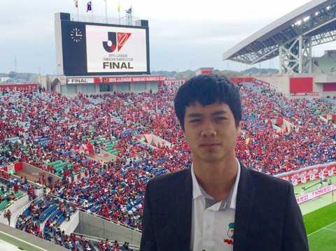 Công Phượng dự khán trận chung kết Cup Quốc gia Nhật Bản 2015 hôm 31/1