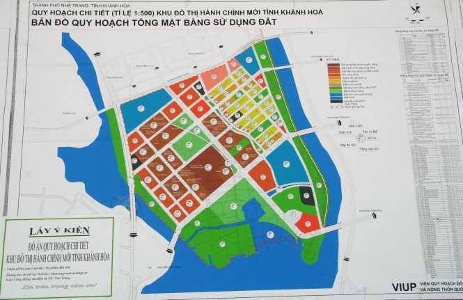 """Quy hoạch tổng thể mặt bằng sử dụng đất khu """"đô thị hành chính mới tỉnh"""" được công bố để lấy ý kiến dân - Ảnh: Phan Sông Ngân"""