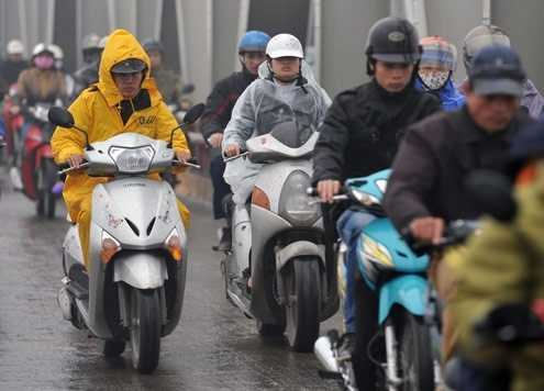 Không khí lạnh tăng cường gây mưa ở nhiều nơi (Ảnh minh hoạ)