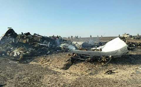 Mảnh vỡ máy bay đã được tìm thấy ở một khu vực rộng khoảng 20km2 trên bán đảo Sinai