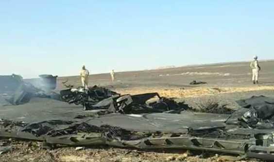 Hiện trường tai nạn máy bay Nga ở Ai Cập