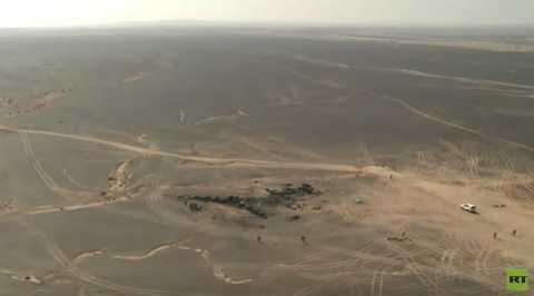 Hiện trường vụ tai nạn máy bay Nga nhìn từ trên cao
