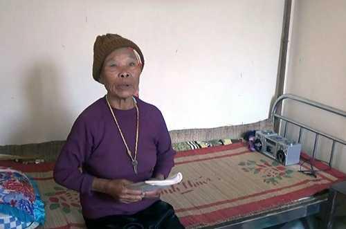 Bà Trịnh Thị Châu đã ở Trung tâm bảo trợ xã hội Nghệ An tròn 10 năm.