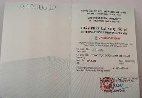 Giấy phép lái xe Quốc tế cho người Việt Nam