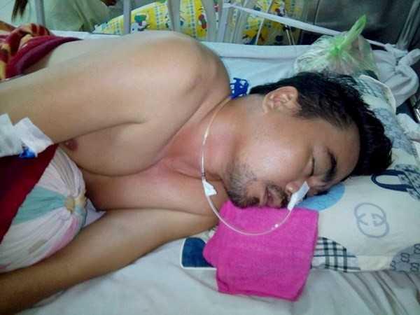 Nguyễn Hoàng đang rất nguy kịch sau khi trải qua cơn tai biến nặng. Ảnh: Một Thế Giới