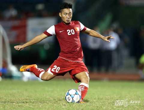 Hồ Tuấn Tài trong màu áo U21 Báo Thanh Niên Việt Nam dự giải U21 Quốc tế 2014 (Ảnh: Quang Minh)