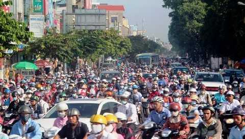Kẹt xe, ùn tắc nghiêm trọng trên đường Nguyễn Thái Sơn (Q.Gò Vấp) sáng 3/11