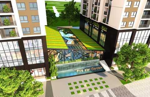 Bể bơi bốn mùa tại dự án Five Star Garden