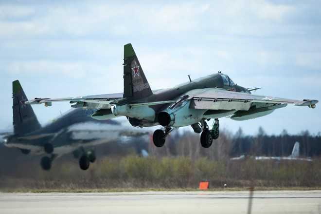 Máy bay SU-25 của quân đội Nga ở Syria