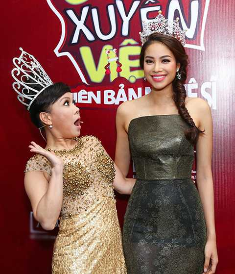 Sự hài hước duyên dáng của Việt Hương khiến nhiều người thích thú.