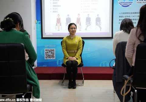 Một lớp học đào tạo quý tộc ở Thượng Hải.