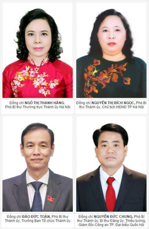 4 Phó Bí thư Thành ủy Hà Nội.