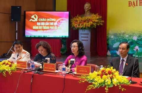 4 Phó Bí thư Hà Nội tại cuộc họp báo.