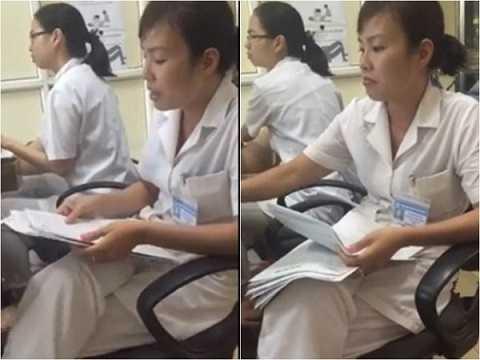 Nữ điều dưỡng Nhung có cách hành xử chưa đúng mực.