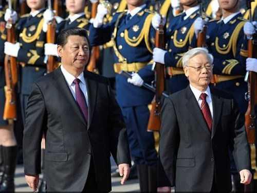 Chủ tịch Trung Quốc Tập Cận Bình và Tổng bí thư Nguyễn Phú Trọng tại Bắc Kinh tháng 4/2015