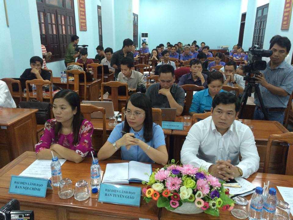 Công an tỉnh, Toà án và đại diện Ban nội chính, Ban Tuyên giáo tỉnh Bình Phước cũng có mặt tại buổi họp báo