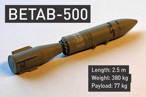 Một quả bom xuyên bê tông BETAB-500