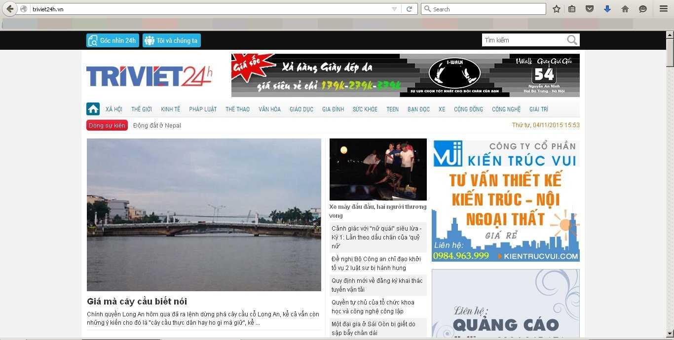 Trang Trí Việt 24h bị tạm dừng hoạt động để củng cố tổ chức và cán bộ  (Ảnh chụp màn hình)