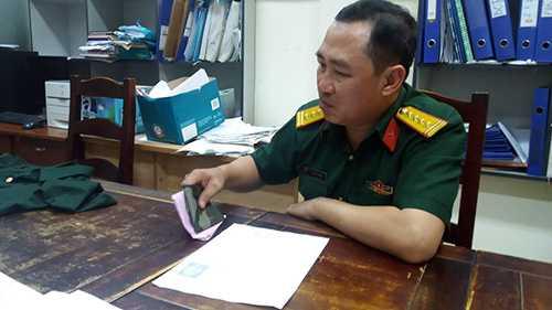Đại tá dỏm Lê Thanh Hùng khi bị bắt giữ