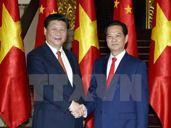 Thủ tướng Nguyễn Tấn Dũng hội kiến Tổng Bí thư, Chủ tịch nước Trung Quốc Tập Cận Bình thăm cấp Nhà nước Việt Nam - Ảnh: TTXVN