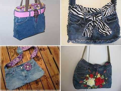 Từ những chiếc quần denim cũ, bạn có thể chế tạo ra các kiểu túi denim vô cùng đáng yêu.
