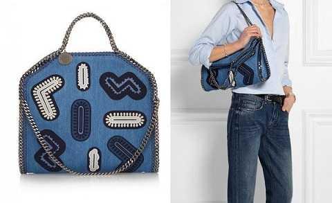 Stella McCartney mang tới thiết kế túi nắp gập đầy sáng tạo với đường viền dây xích xung quang cùng những chi tiết trang trí trên mặt túi rất sinh động.