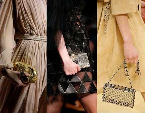 Những mẫu ví cầm tay ánh kim khiến bạn thật sự bừng sáng.