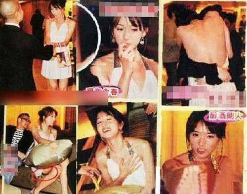 Những hình ảnh của Lâm Chí Linh bị cho là đang trong một buổi tiếp rượu đại gia từng bị phát tán trên mạng