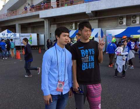 Một CĐV Nhật nhận ra Công Phượng tại xử sở mặt trời mọc - Ảnh do nhân vật cung cấp