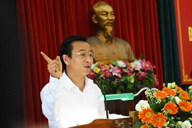 Ông Nguyễn Xuân Anh phát biểu tại hội nghị. Ảnh: Đoàn Nguyên.