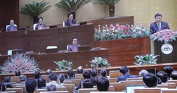 Ông Tập Cận Bình phát biểu trước Quốc hội Việt Nam