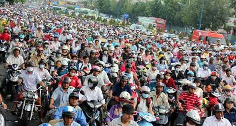 Hà Nội và TP.HCM dẫn đầu thế giới về tỷ lệ người dân sử dụng xe máy