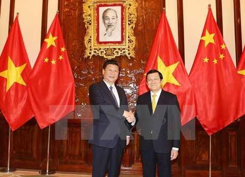 Chủ tịch nước Trương Tấn Sang hội đàm Tổng Bí thư, Chủ tịch Trung Quốc Tập Cận Bình