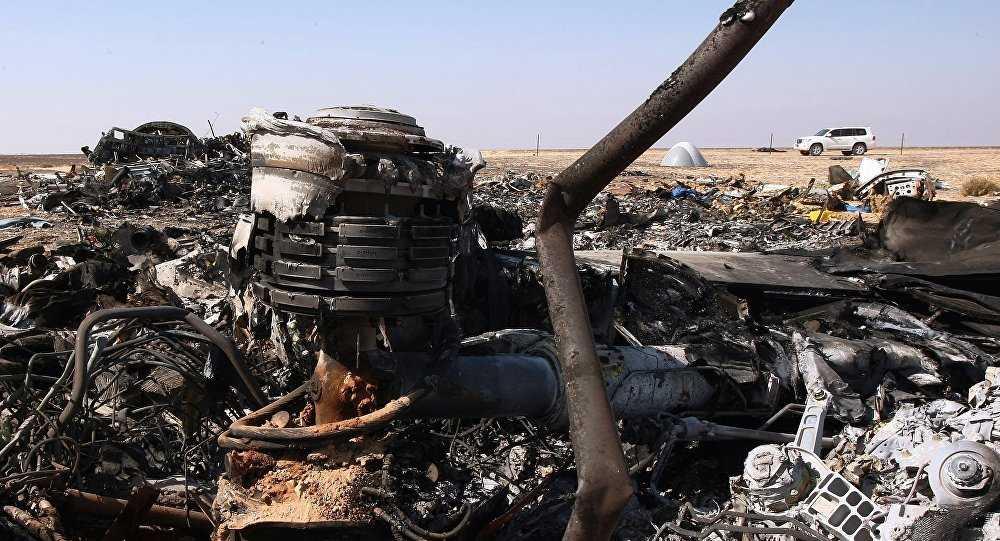 Mảnh vỡ động cơ máy bay Nga rơi ở Ai Cập