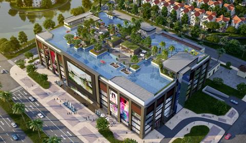 Bể bơi vô cực trên tầng mái của TTTM Vincom Long Biên - phong cách kiến trúc đang tạo cơn sốt cho những khu đô thị cao cấp, resort nổi tiếng trên thế giới.