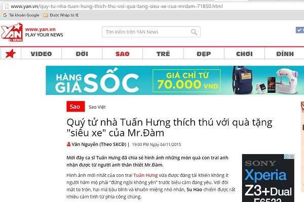 Bài trên trang Yan.vn