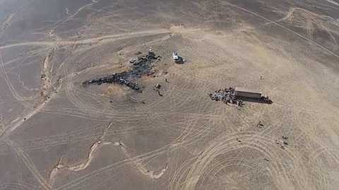 Hiện trường vụ tai nạn máy bay MetroJet