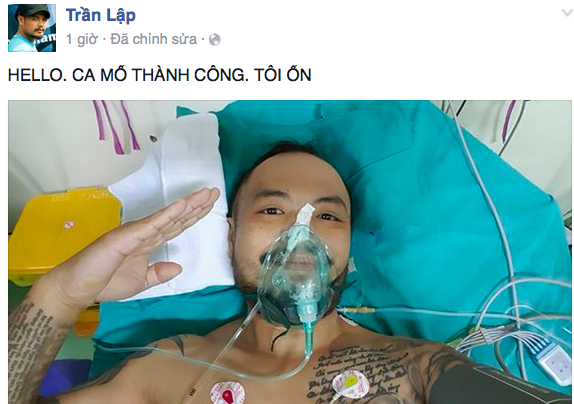 Trần Lập tỉnh lại sau ca phẫu thuật.