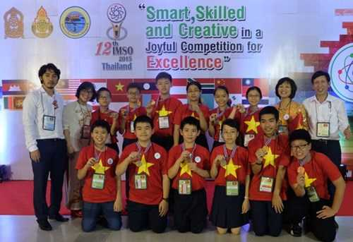Đoàn học sinh Trường THCS Giảng Võ tại Patum (Thái Lan)
