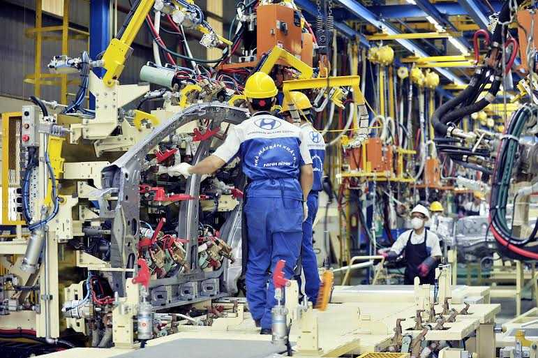 Dây chuyền sản xuất Hyundai SantaFe