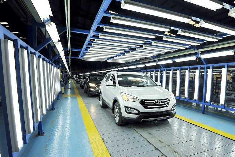 Hyundai Thành Công cho biết đã đầu tư dây chuyền lắp ráp xe SantaFe hiện đại bậc nhất Đông Nam Á