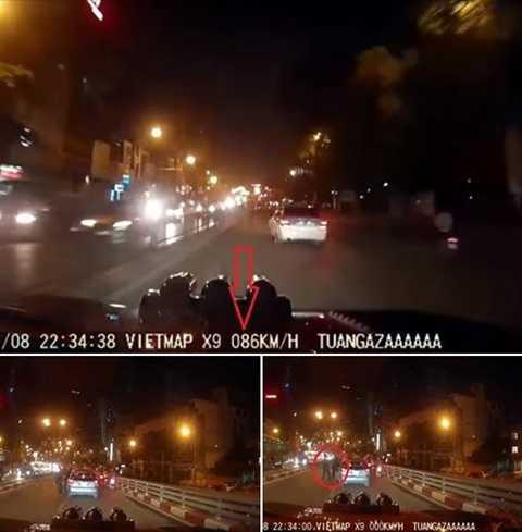 Hình ảnh cắt từ camera hành trình cho thấy chiếc xe bán tải Ford Ranger màu cam đã mắc nhiều lỗi vi phạm giao thông