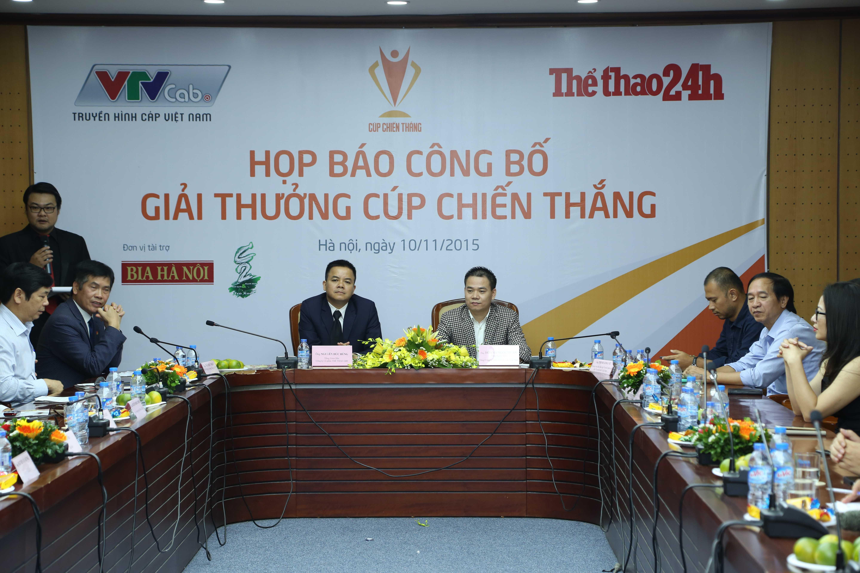 Hình ảnh buổi họp báo công bố giải thưởng Cúp Chiến thắng