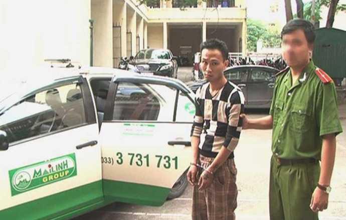 Đối tượng chém tài xế, cướp taxi Mai Linh bị bắt. (Ảnh: Người lao động)