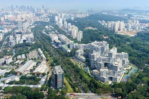 Nhìn từ trên cao với khu đô thị này