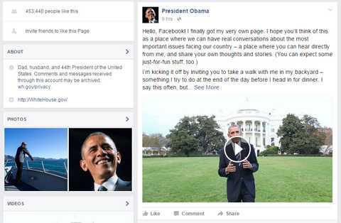 Tổng thống Mỹ Barack Obama vừa gia nhập cộng đồng Facebook