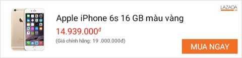 iPhone 6S chính hãng là sản phẩm có doanh số tốt nhất